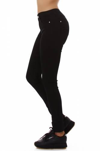 Skinny Fit Basic Jeans - schwarz