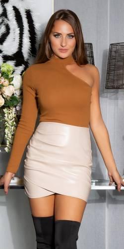 Mini-jupe - beige
