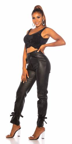 Pantalon High Waist - noir