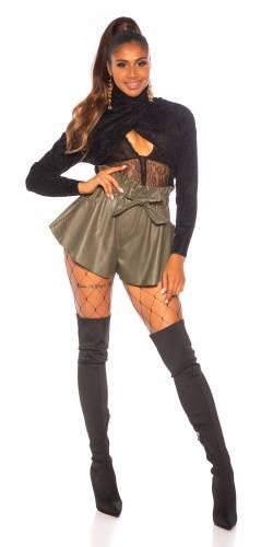 High Waist Shorts - khaki