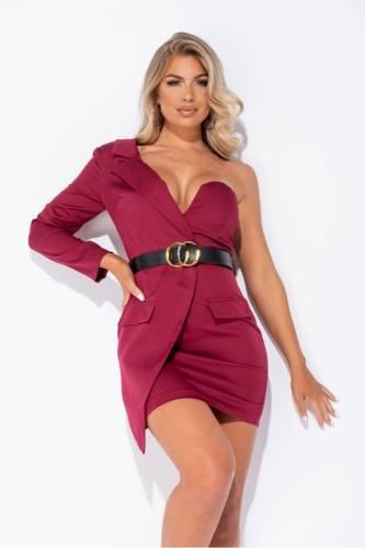Blazer Kleid - bordeux