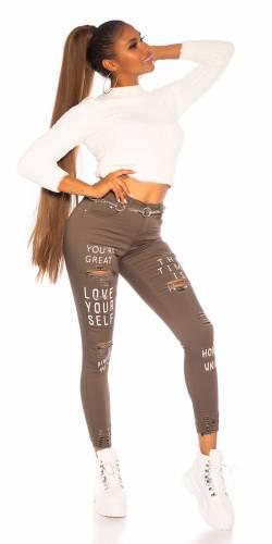Skinny Jeans Shae - khaki