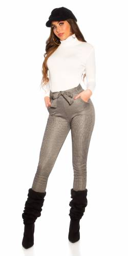 Pantalon High Waist - cappuccino