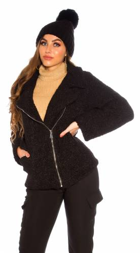 Veste Teddy - black