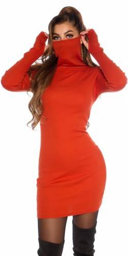 Kleid mit Maske - orange