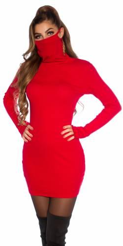 Kleid mit Maske - red
