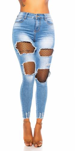 High Waist Jeans Sally - blau