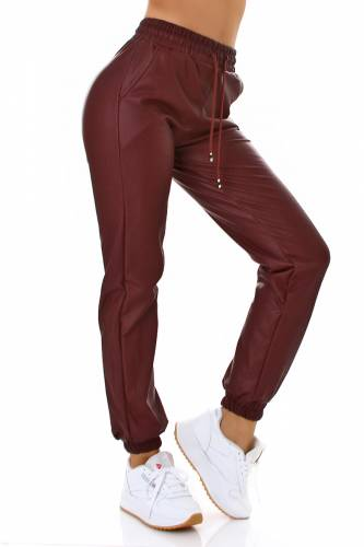 Lederlook Jogger - bordeux