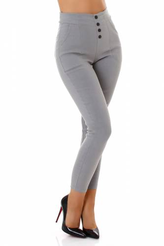 High Waist Hose - grau