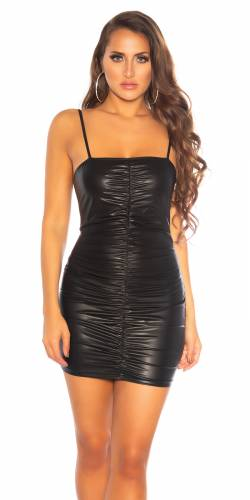 Wetlook Kleid - black