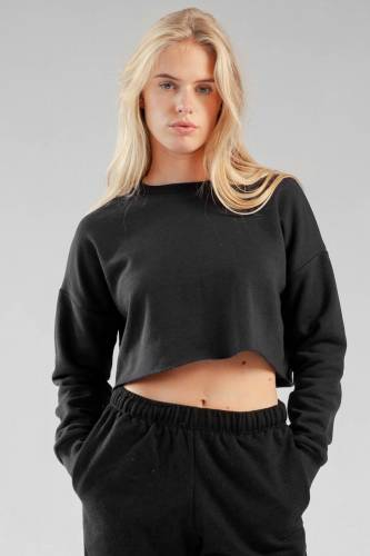 Crop Sweatshirt - black