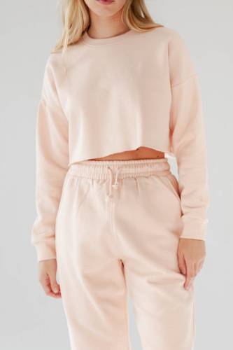 Crop Sweatshirt - rose