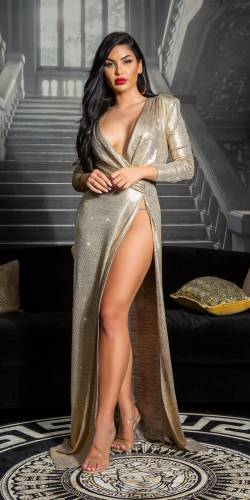 Red Carpet Kleid - gold