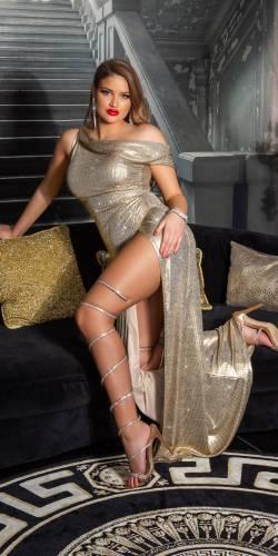 Goddess Kleid - gold