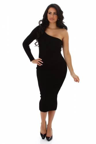 Feinstrick Kleid - black