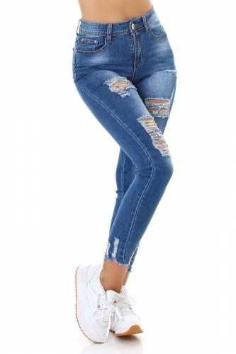 Destroyed Jeans Saria - blau