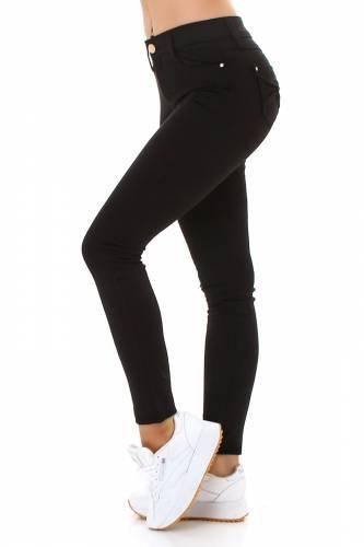 Skinny Jeans mit Schlaufe - schwarz