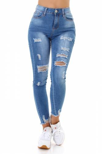 Destroyed Jeans - blue