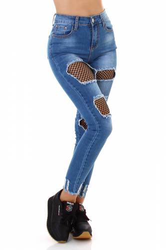 High Waist Jeans Saima - blau