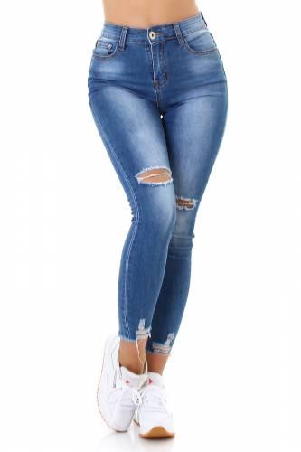 High Waist Jeans Sanda - blau