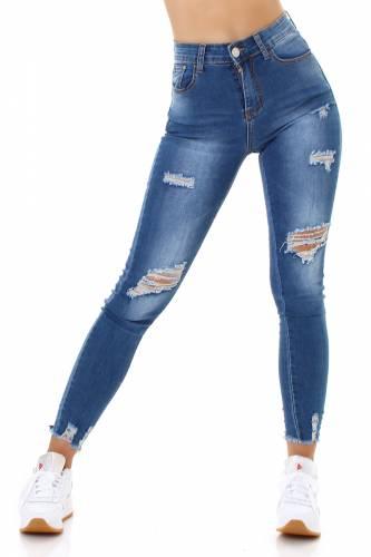 Destroyed Jeans Sara - bleu
