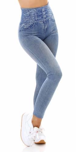 Leggings aspect jean - bleu clair