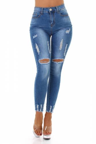 Destroyed Jeans Sania - bleu