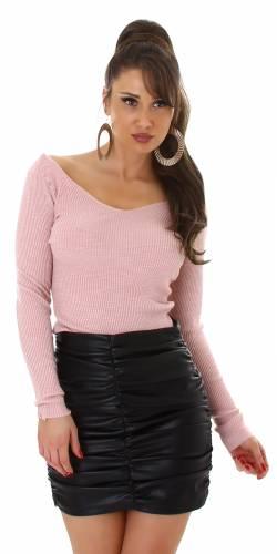 Pull en tricot fin - rose
