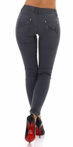 Skinny Jeans Roya - gris foncé