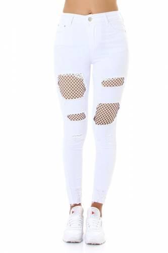 High Waist Jeans Jonna - blanc