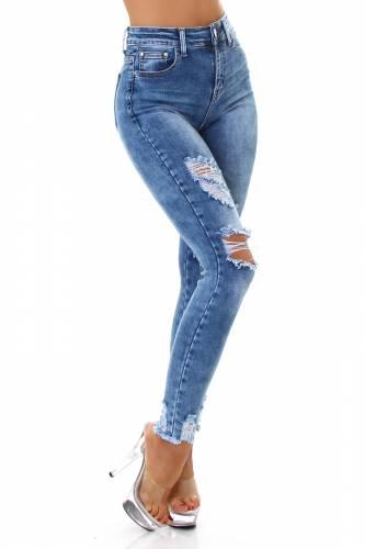 Destroyed Jeans Levia - bleu