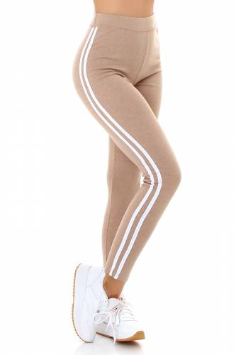 High Waist Leggings  - beige