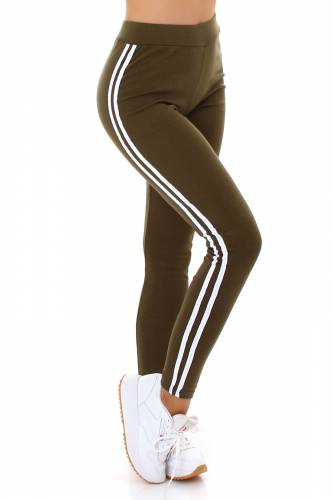 High Waist Leggings Rae - khaki