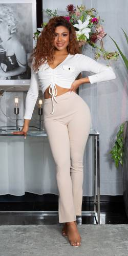 High Waist Hose - beige