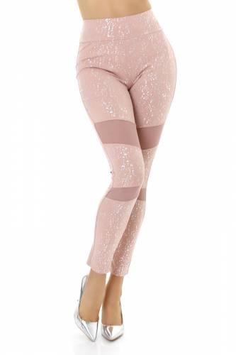 Print Leggings  - rose