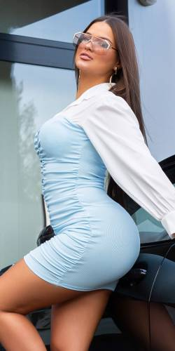 Robe chemise - bleu clair
