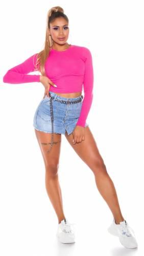 Crop shirt - pink