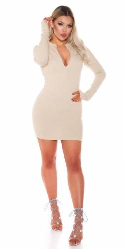 Bodycon Kleid - beige