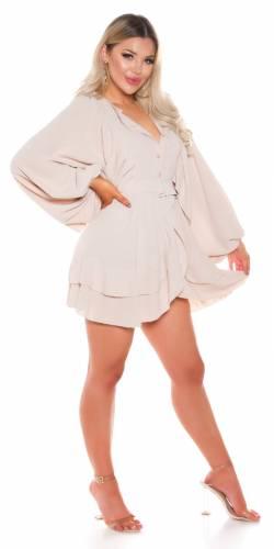 Robe babydoll - beige