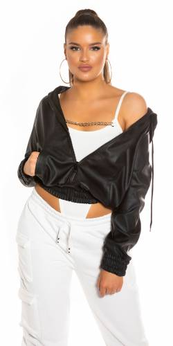 Veste Crop - black