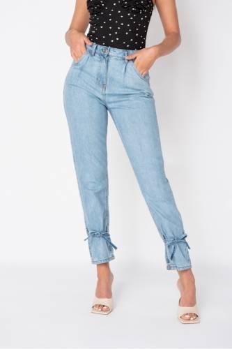 High Waist Slim Fit Jeans - hellblau