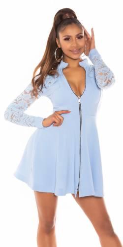 Robe en dentelle - bleu clair