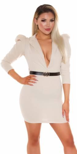 Mini robe avec ceinture - beige
