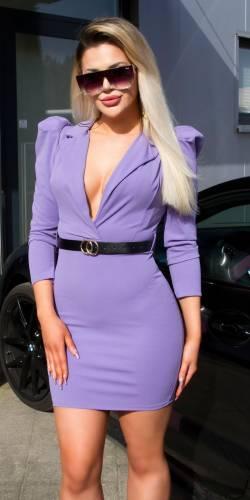 Mini robe avec ceinture - lilas