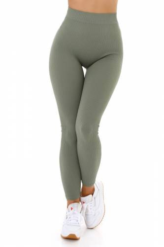 High Waist Leggings  - khaki
