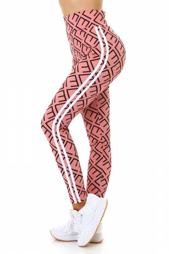 High Waist Leggings  - altrosa