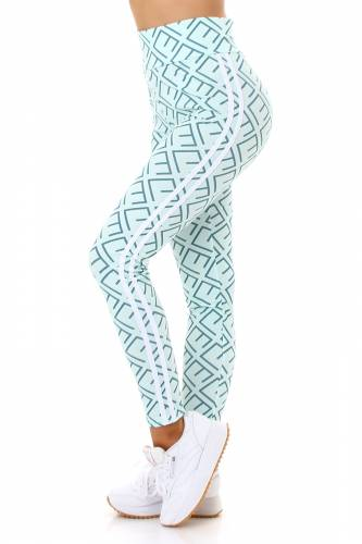Leggings High Waist - turquoise