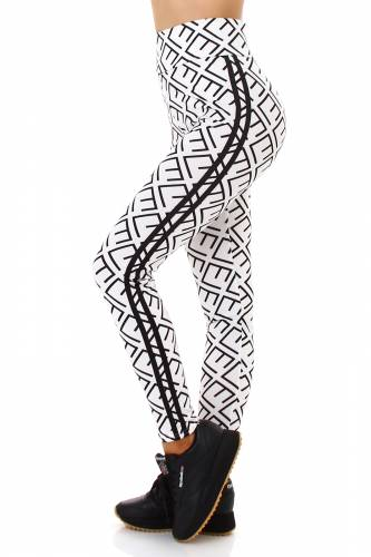 High Waist Leggings  - weiss