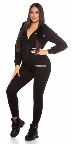 Sweat Jumpsuit - noir