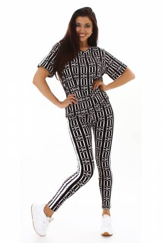 Leggings & shirt Jaclyn - noir